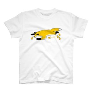 キツネとヒヨコ Tシャツ