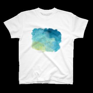 molの絵の具が染みたTシャツ