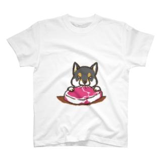 肉食柴犬(黒柴) Tシャツ