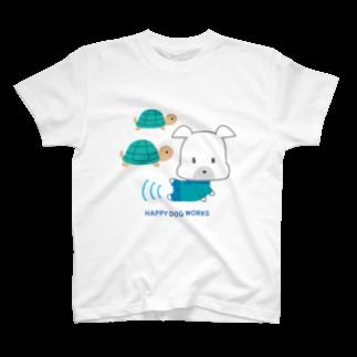 HAPPY DOG【LINEスタンプ】カメさん Tシャツ