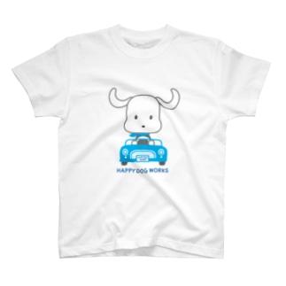 HAPPYDOG【LINEスタンプ】ドライブ Tシャツ