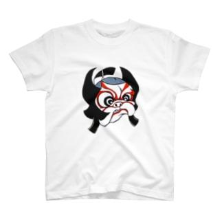 歌舞伎パグ Tシャツ