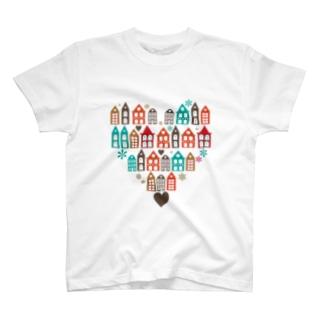 ハートの街並 Tシャツ