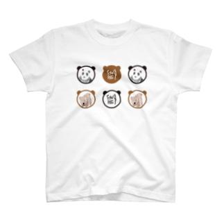 パンダとくま Tシャツ