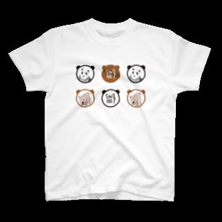 ★いろえんぴつ★のパンダとくま Tシャツ