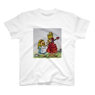 鏡の国のアリスパグ(赤の女王とアリス) Tシャツ