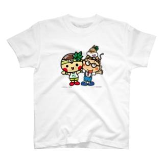 とちまるくんとパソコン太郎の夢絵本【なかよし】 Tシャツ