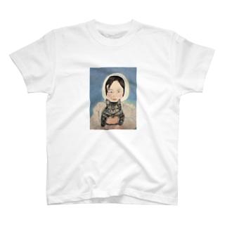 少女のデザイン Tシャツ