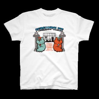 なぐらのぺるしゃんぽりす(薄い色用)Tシャツ
