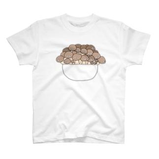 もっさりきのこ Tシャツ