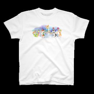 朱留のお祭りだワン Tシャツ
