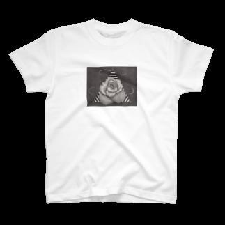 ここだけの銅版画SHOPの遠い記憶 -早春-Tシャツ