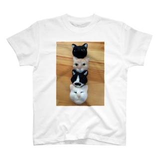 フェルト猫フェイス Tシャツ