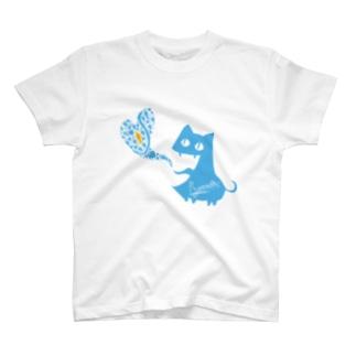 がぶねこ ブルーハワイver. Tシャツ
