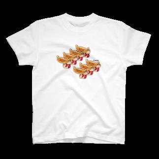 KAGE310のメガネの焼き餃子(一人前)Tシャツ