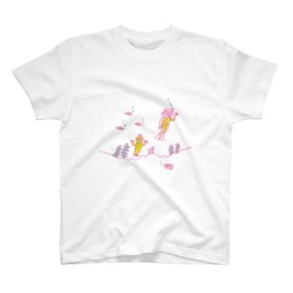 半魚人とダイバー Tシャツ