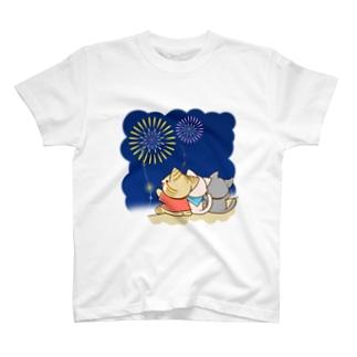 すずにゃん 花火 Tシャツ