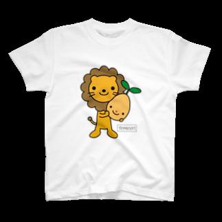 明日のたねのTOMONIらいおん(カラー)Tシャツ