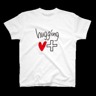 hugging♡+《ハギング ラブ プラス》のhugging♡+_LOGO♡Tシャツ
