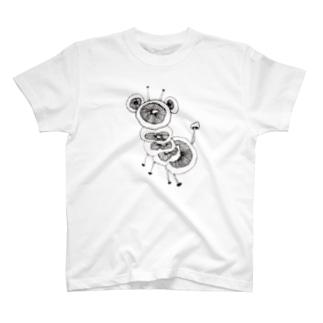 茸動物 Tシャツ