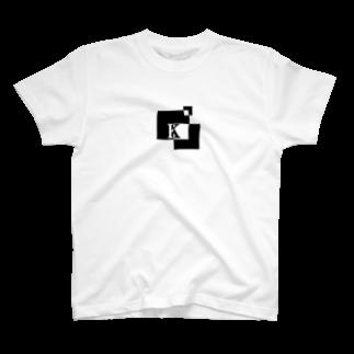 シンプルデザイン:Tシャツ・パーカー・スマートフォンケース・トートバッグ・マグカップのシンプルデザインアルファベットKTシャツ