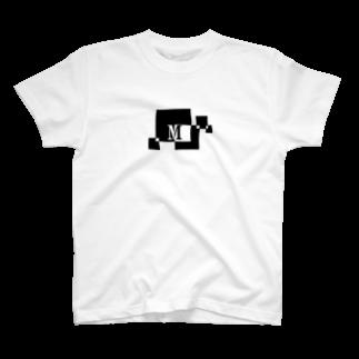 シンプルデザインアルファベットM Tシャツ