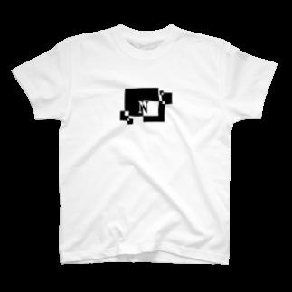 シンプルデザインアルファベットN Tシャツ