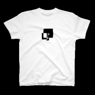 シンプルデザインアルファベットP Tシャツ