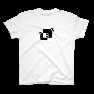 シンプルデザインアルファベットS Tシャツ