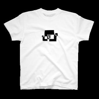 シンプルデザインアルファベットW Tシャツ