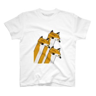 3匹のながいきつね Tシャツ