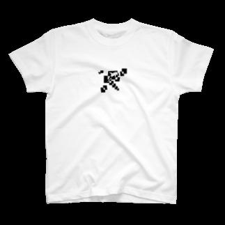 シンプルデザイン:Tシャツ・パーカー・スマートフォンケース・トートバッグ・マグカップのシンプルデザインペアハートの欠片イルカTシャツ
