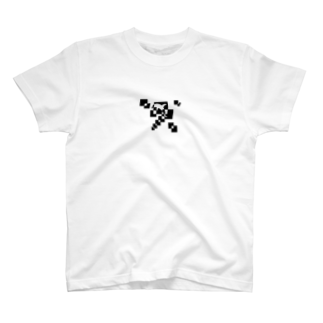 シンプルデザインペアハートの欠片イルカ Tシャツ