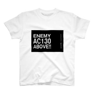 EAA!! Official Store - EAA!! 公式ストアのEnemy AC130 Above!!(Black)Tシャツ