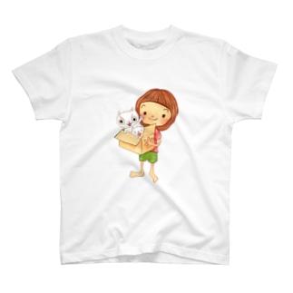 ねこダンボール Tシャツ