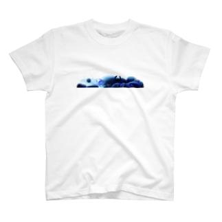 青い川底 Tシャツ