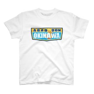 ABADDON OKINAWA BLUE LOGO Tシャツ