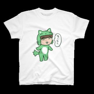ガウ子ショップのワンワンむっちゃんTシャツ