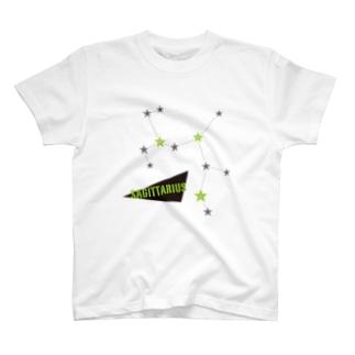 スタースタッズ星座 射手座 Tシャツ