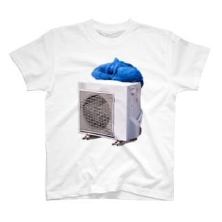室外機と網 Tシャツ