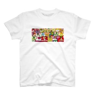 フルーツ猫 密集☆ Tシャツ