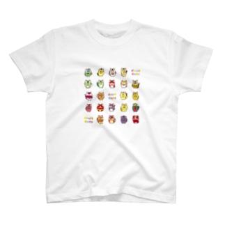 フルーツ猫 全員集合! Tシャツ