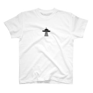 UFO black Tシャツ