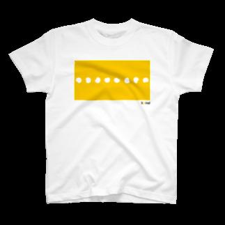 sanographixの転がる餅 Tシャツ