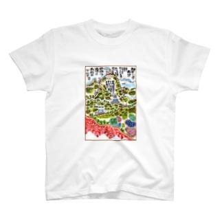 山岳伝承漫画「神奈川県・丹沢大山は雨降り山」 Tシャツ