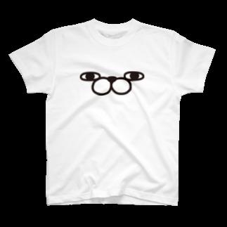ヨッシースタンプのうさぎ100%ザフェイス Tシャツ