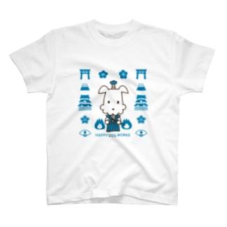 HAPPY DOG WORKS 武士_模様A Tシャツ