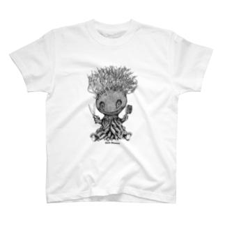 """Dark blanco """"Monster 17"""" Tシャツ"""