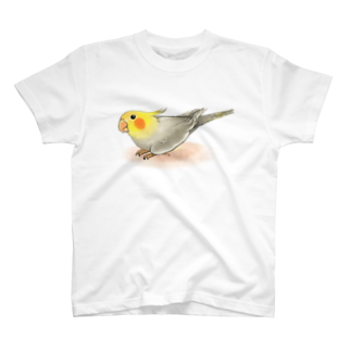まめるりはことりのオカメインコ レキ【まめるりはことり】 Tシャツ