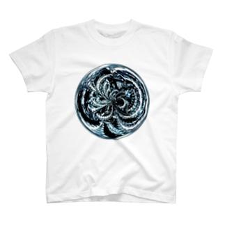 丸抽象模様 Tシャツ